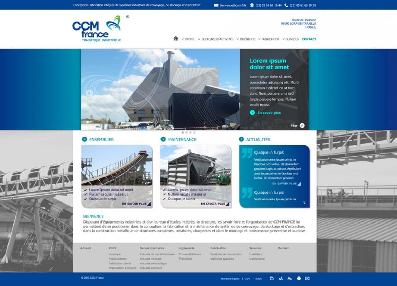 CCM France site Web - Anne-Sophie FERNANDEZ - Graphiste Webdesigner