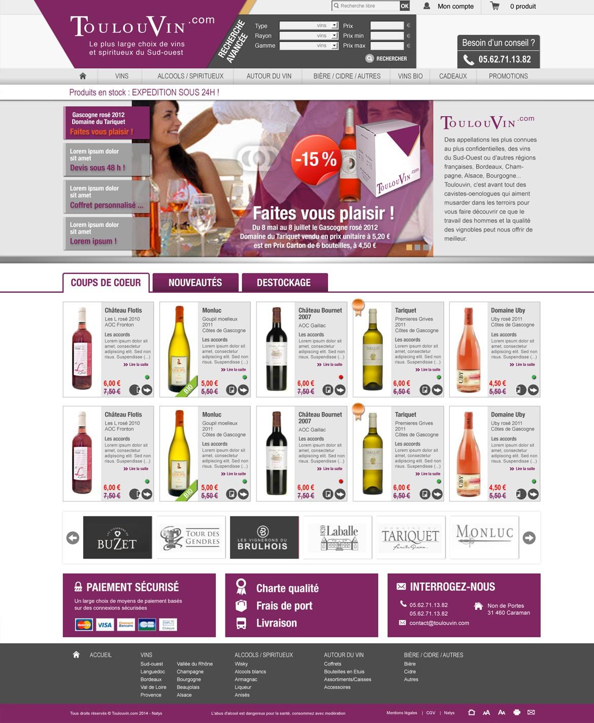 Toulouvin Page accueil site web