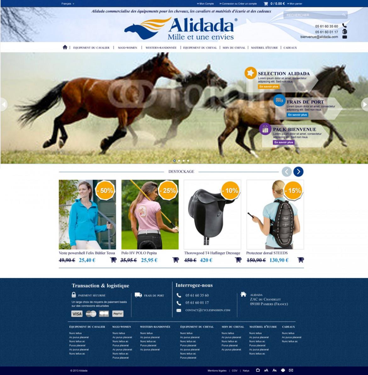 Site web Alidada - Anne-Sophie Fernandez - graphiste Webdesigner