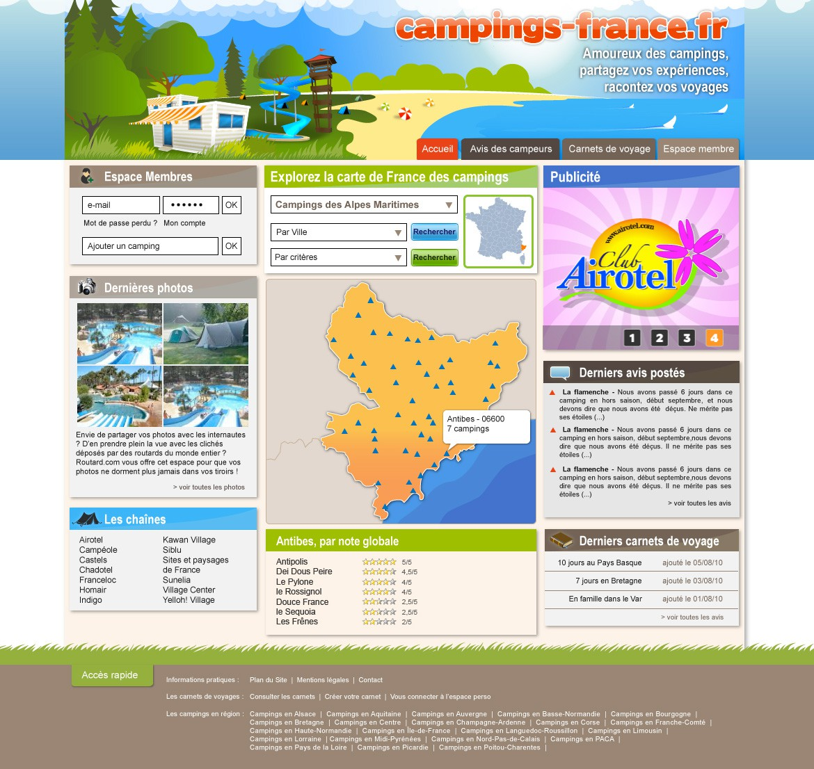Camping France Page Accueil