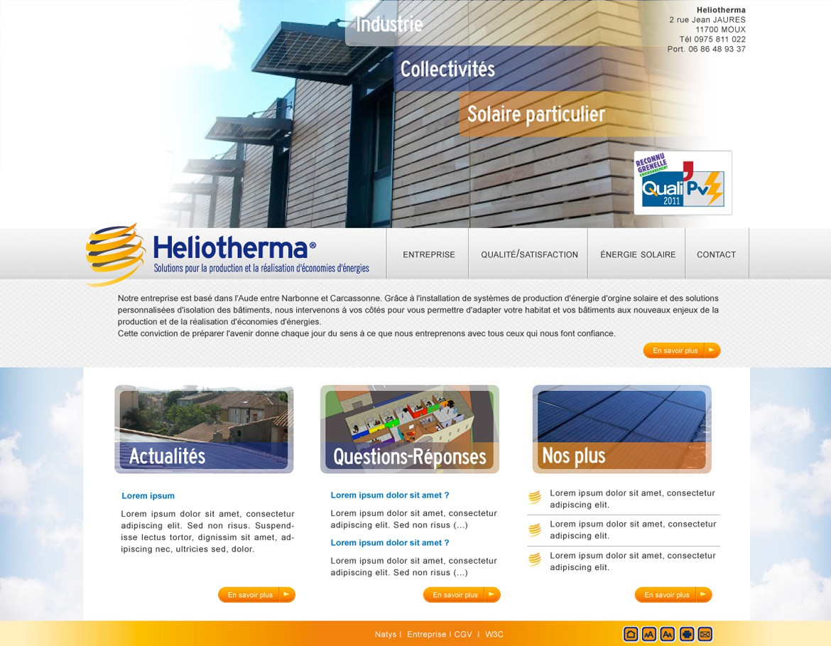 heliotherma natys page accueil